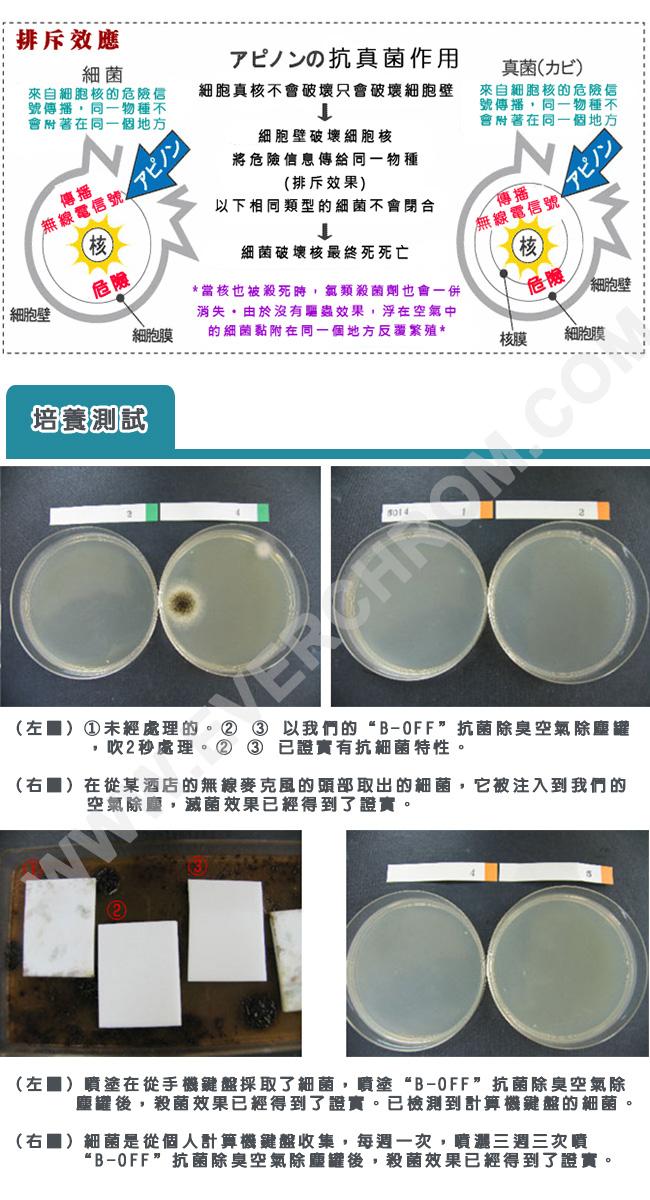 3I CURA-B-OFF抗菌除臭空氣除塵罐CAD-100-05