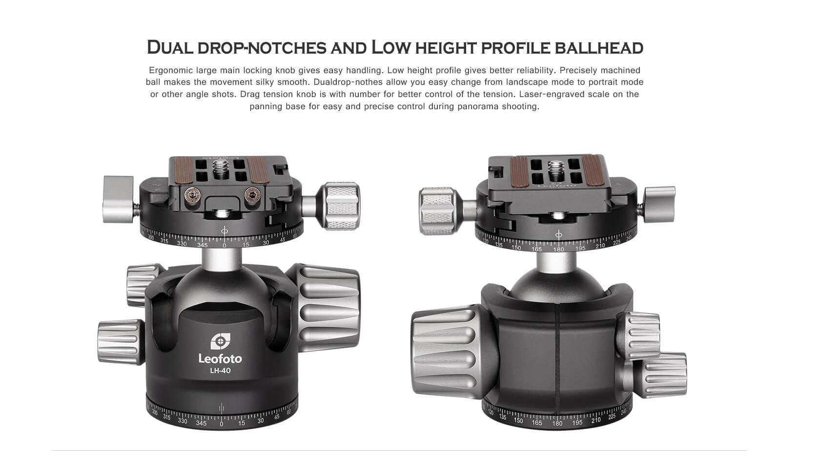 ,LH-40R+NP60,球形雲台,低重心雙開口,RH-2L,雙全景夾座