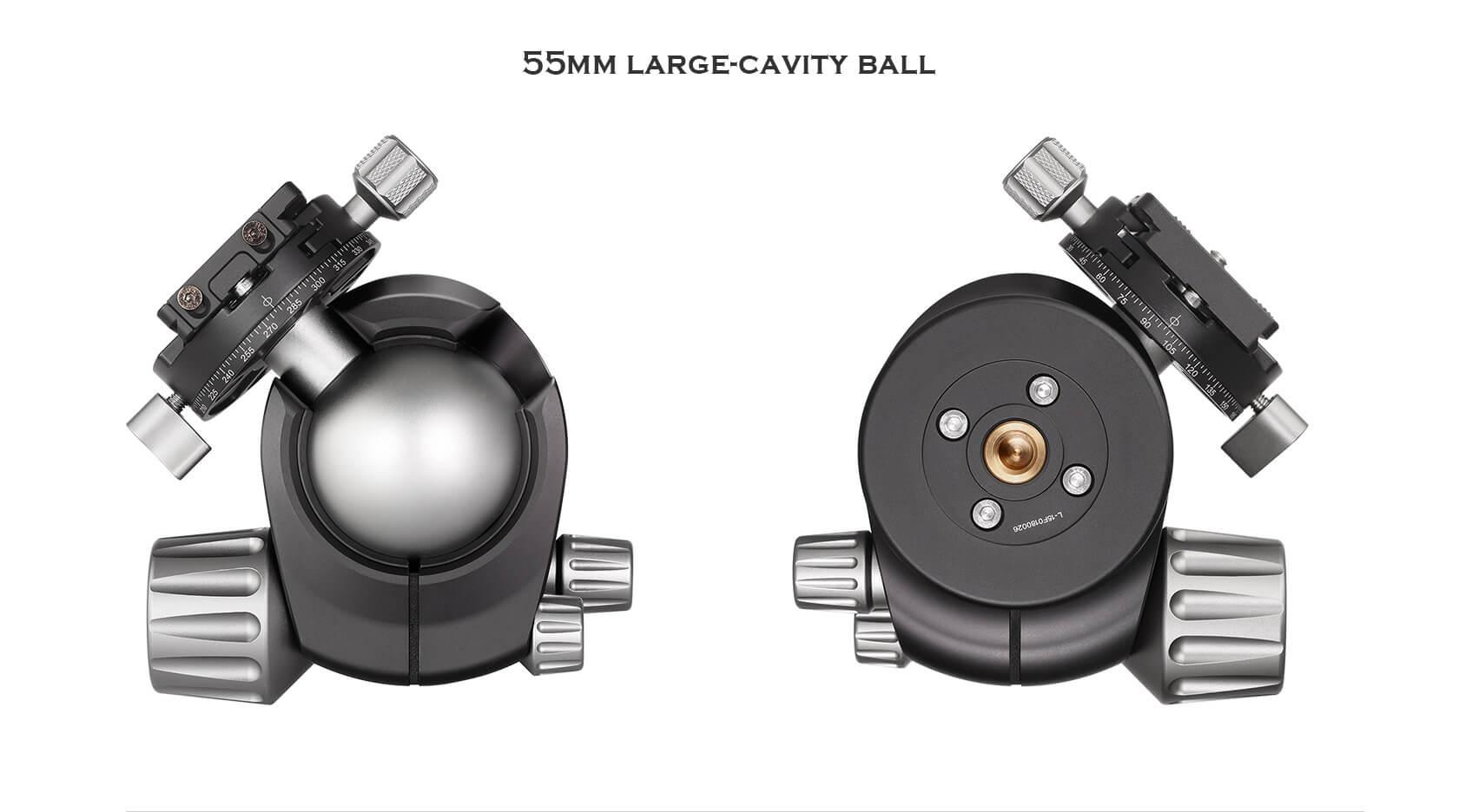 LH-55R+NP60,球形雲台,低重心雙開口,RH-2L,雙全景夾座